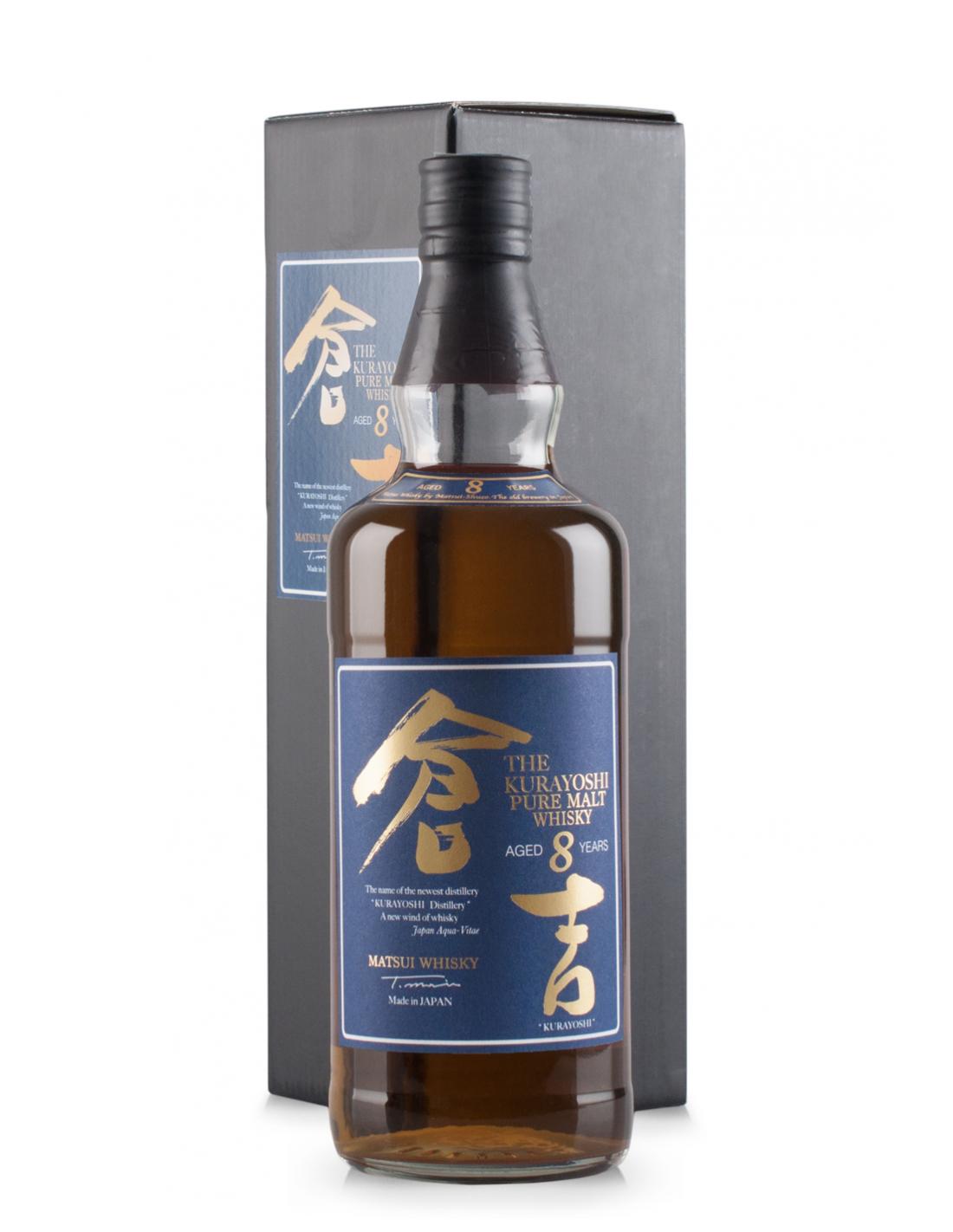 Whisky Matsui Kurayoshi Pure Malt, 8 ani, 43% alc., 0.7L, Japonia