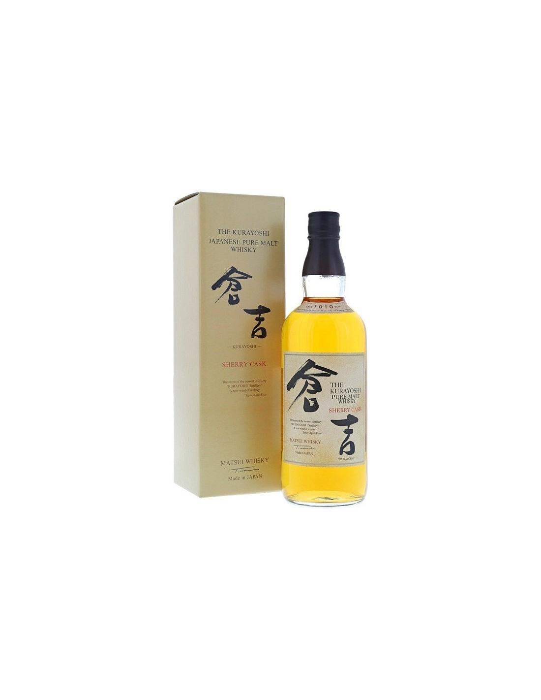 Whisky Matsui Kurayoshi Sherry Cask, 43% alc., 0.7L, Japonia