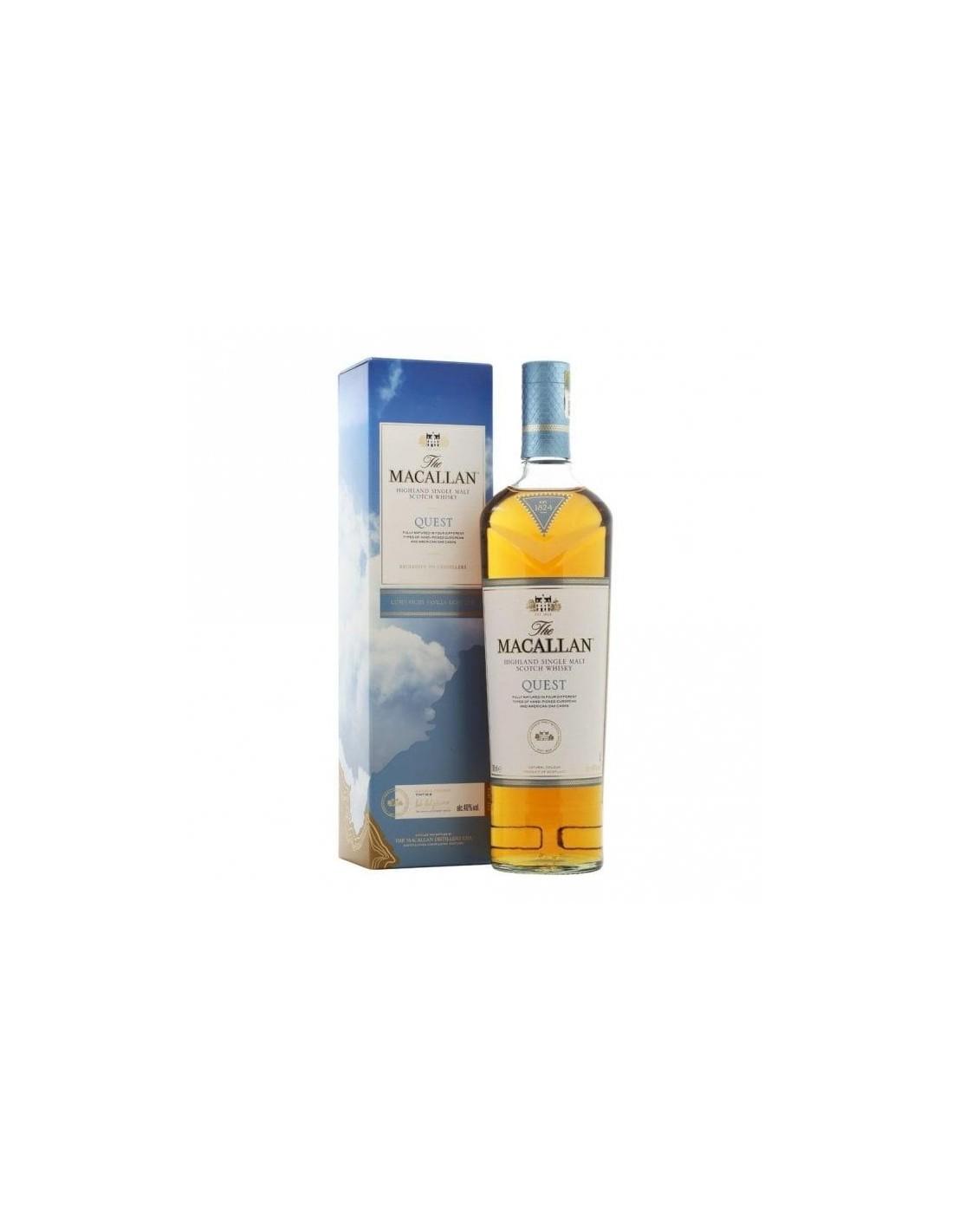 Whisky Macallan Quest Fine Oak, 40% alc., 0.7L, Scotia
