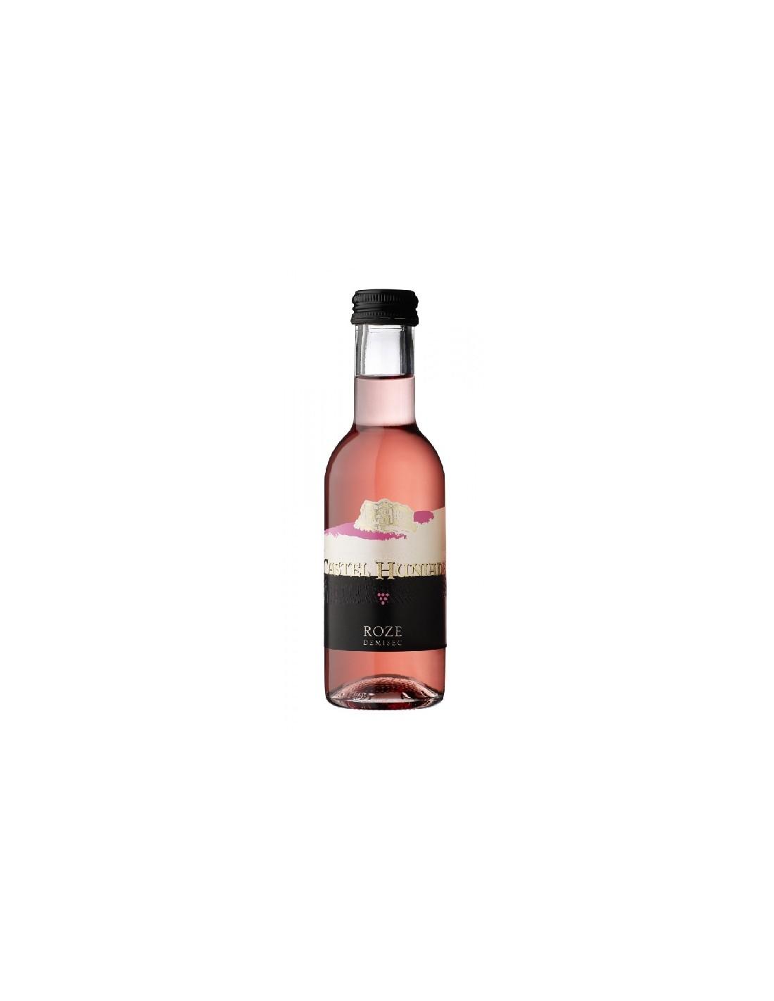 Vin roze demisec, Castel Huniade Recas, 0.187L, 12% alc., Romania