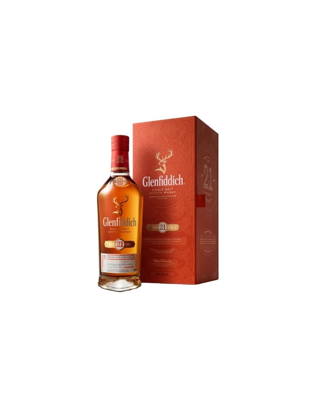 Whisky Glenfiddich, 21 ani , 40% alc., 0.7L, Scotia