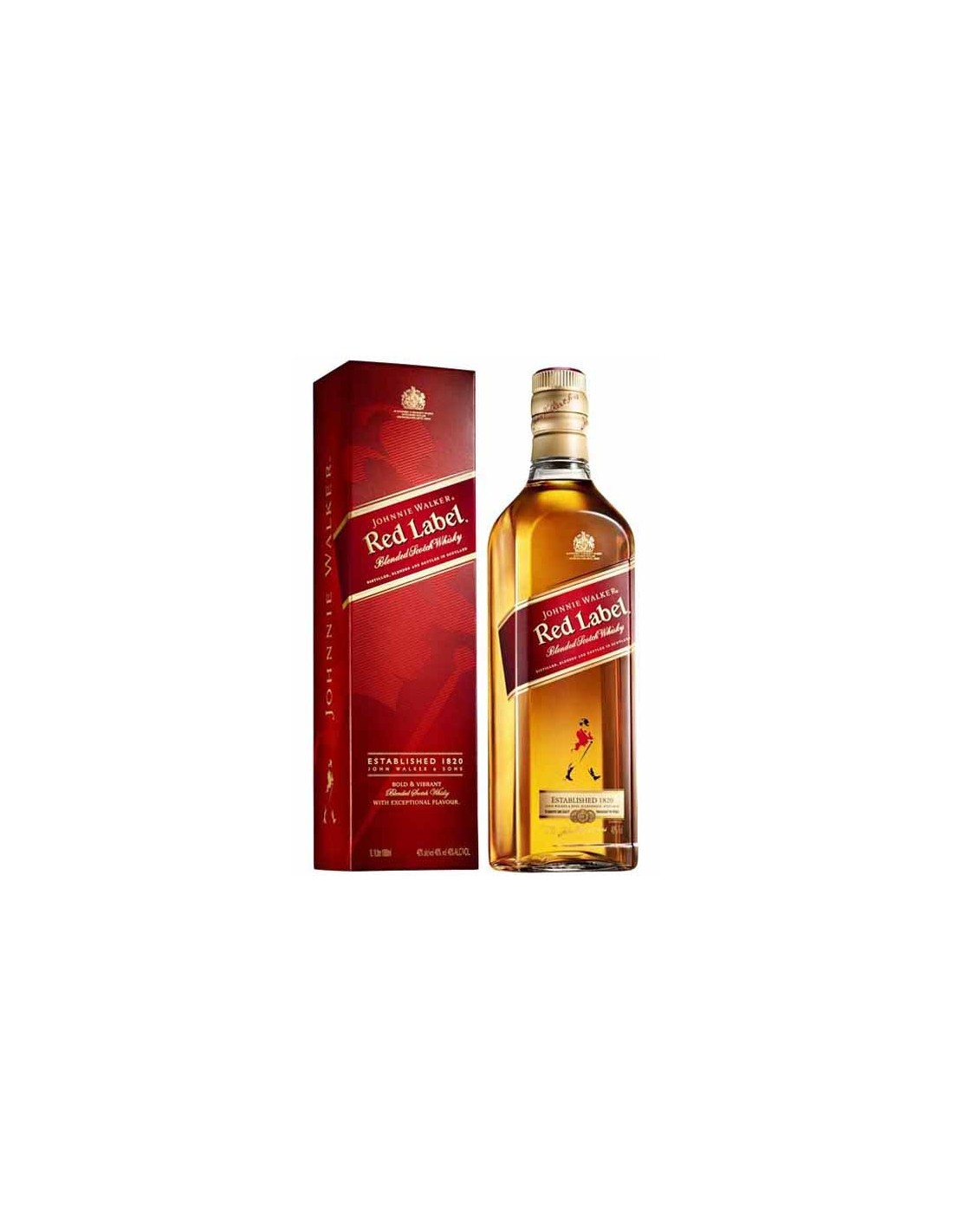 Whisky Johnnie Walker Red Label, 40% alc., 1L, cutie, Scotia
