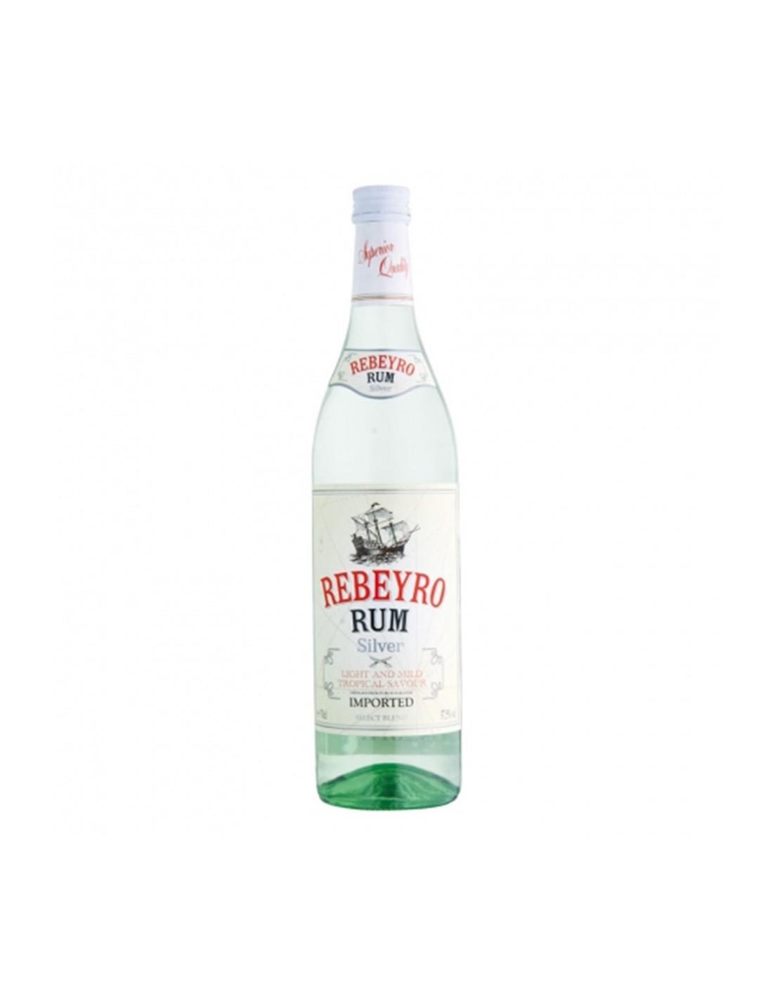 Rom alb Rebeyro Silver, 37.5% alc., 0.7L, Germania