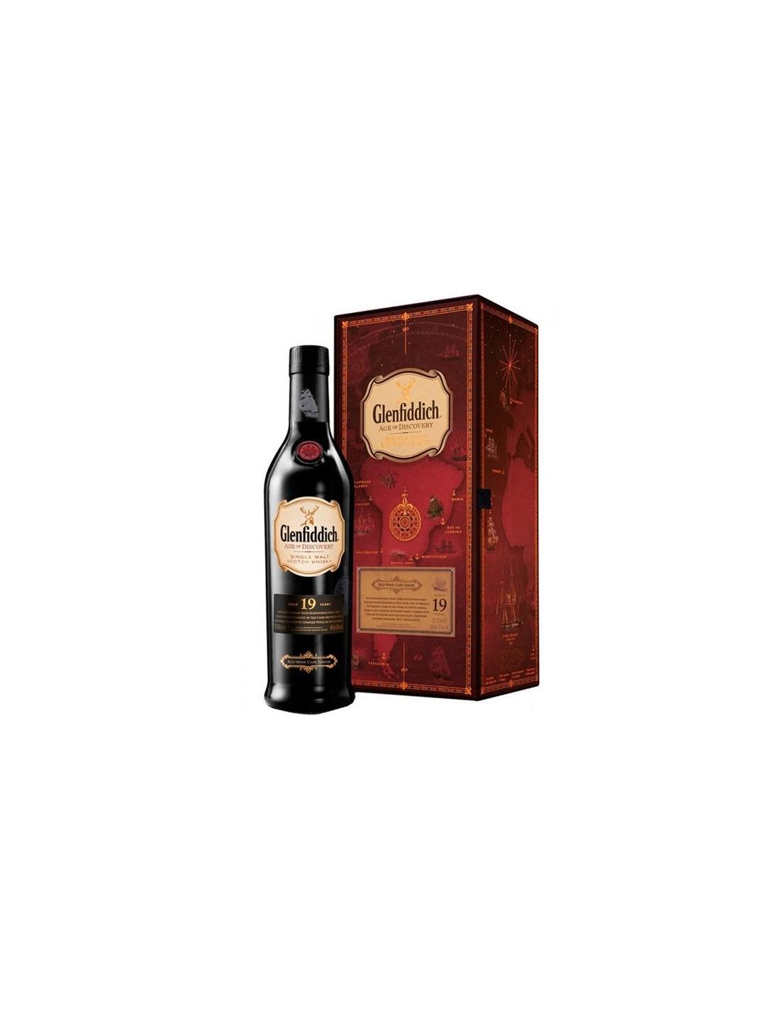Whisky Glenfiddich, 19 ani, 40% alc., 0.7L, Scotia