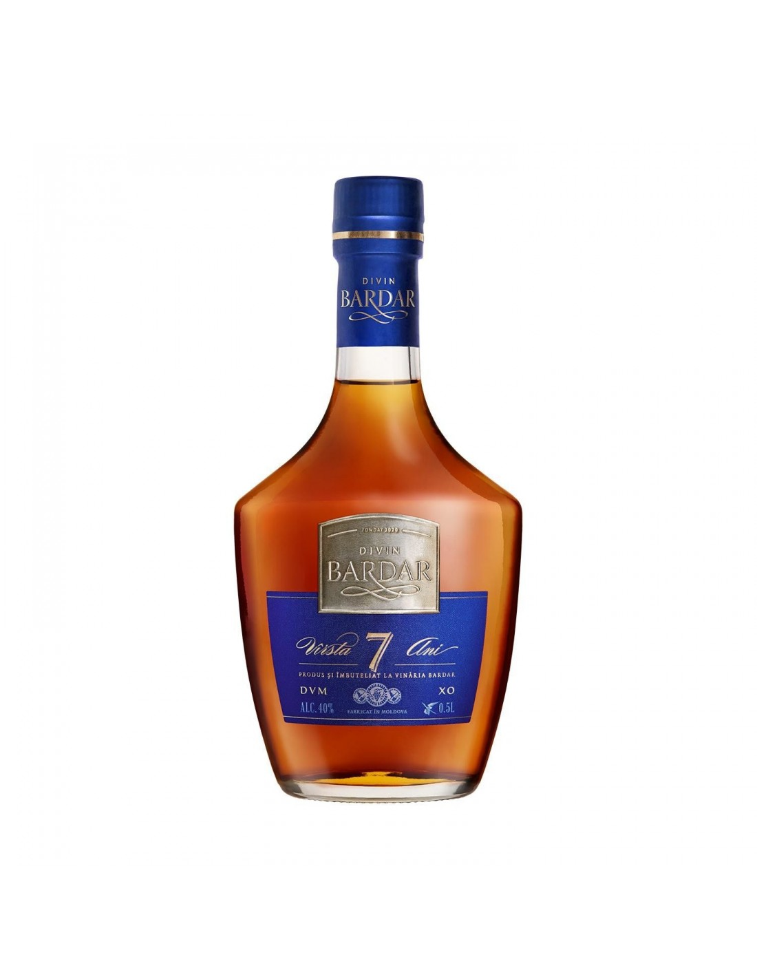 Coniac Brandy Divin Barbar 40% alc., 0.5L, 7 ani