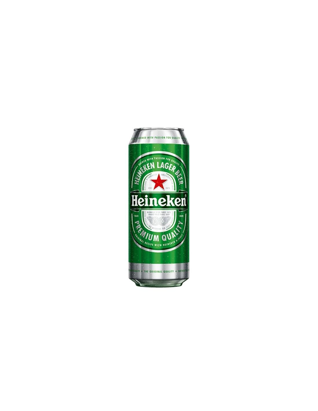 Bere blonda, filtrata Heineken Premium, 5% alc., 0.5L