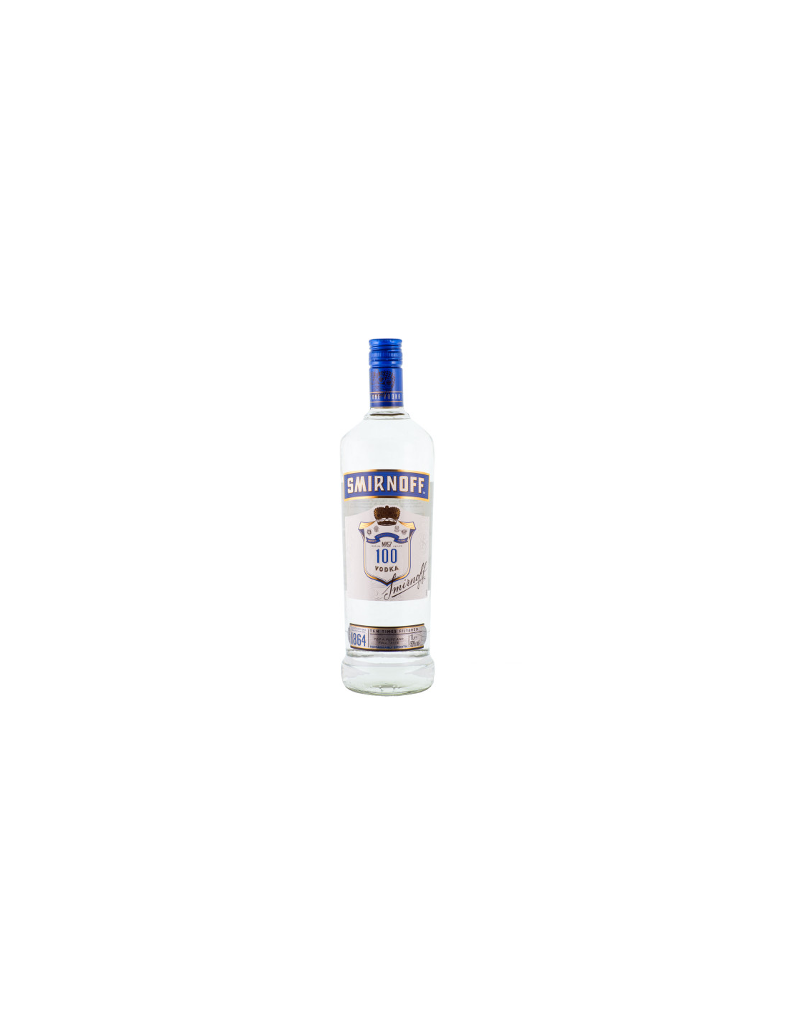 Vodca Smirnoff BLue 100 Proof 1L, 40% alc., Rusia