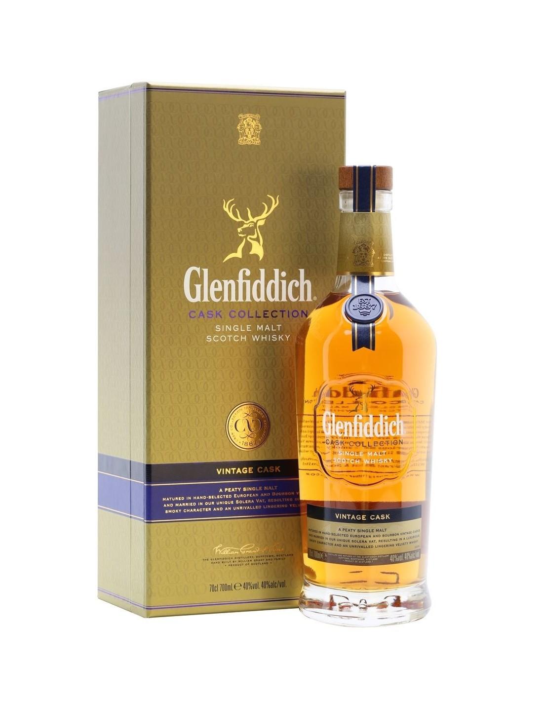 Whisky Glenfiddich Vintage Cask, 40% alc., 0.7L, Scotia