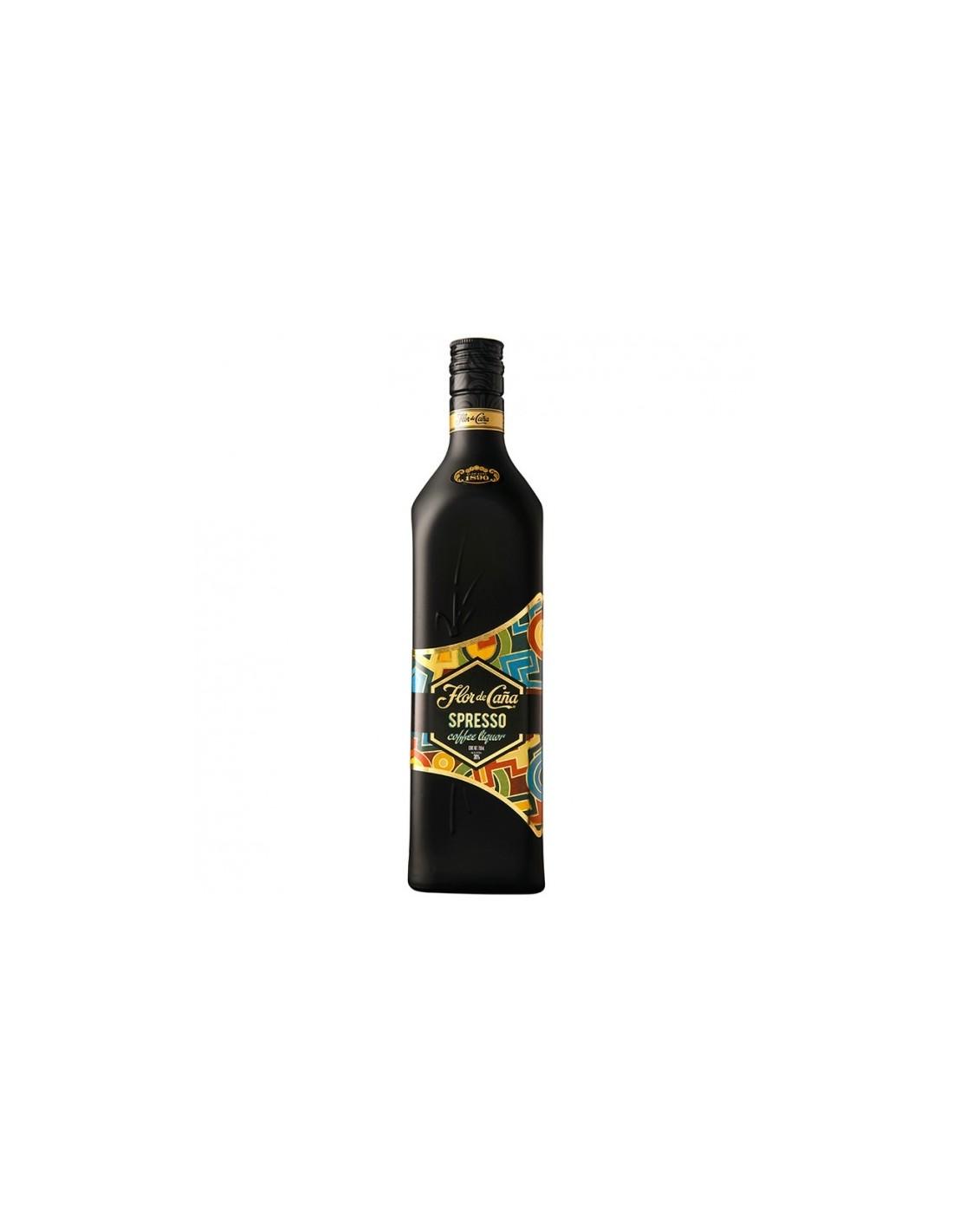 Rom negru Flor De Cana Spresso, 0.7L