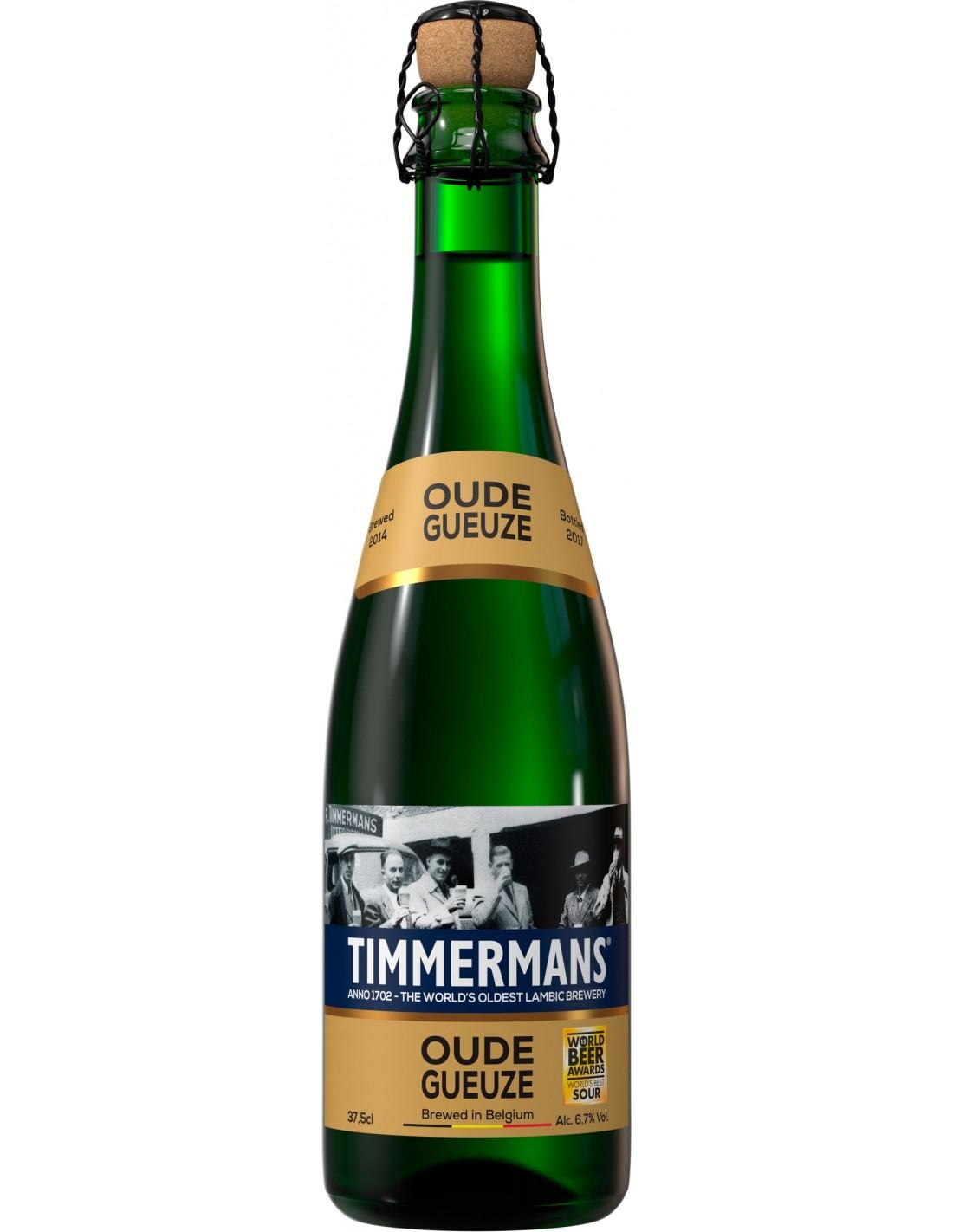 Bere blonda, nefiltrata Timmermans Oude Gueuze, 6.7% alc., 0.37L, Belgia