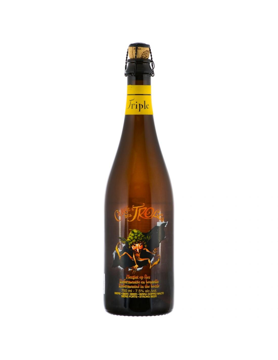 Bere bruna Cuvee Des Trolls, 6.3% alc., 0.75L, Belgia