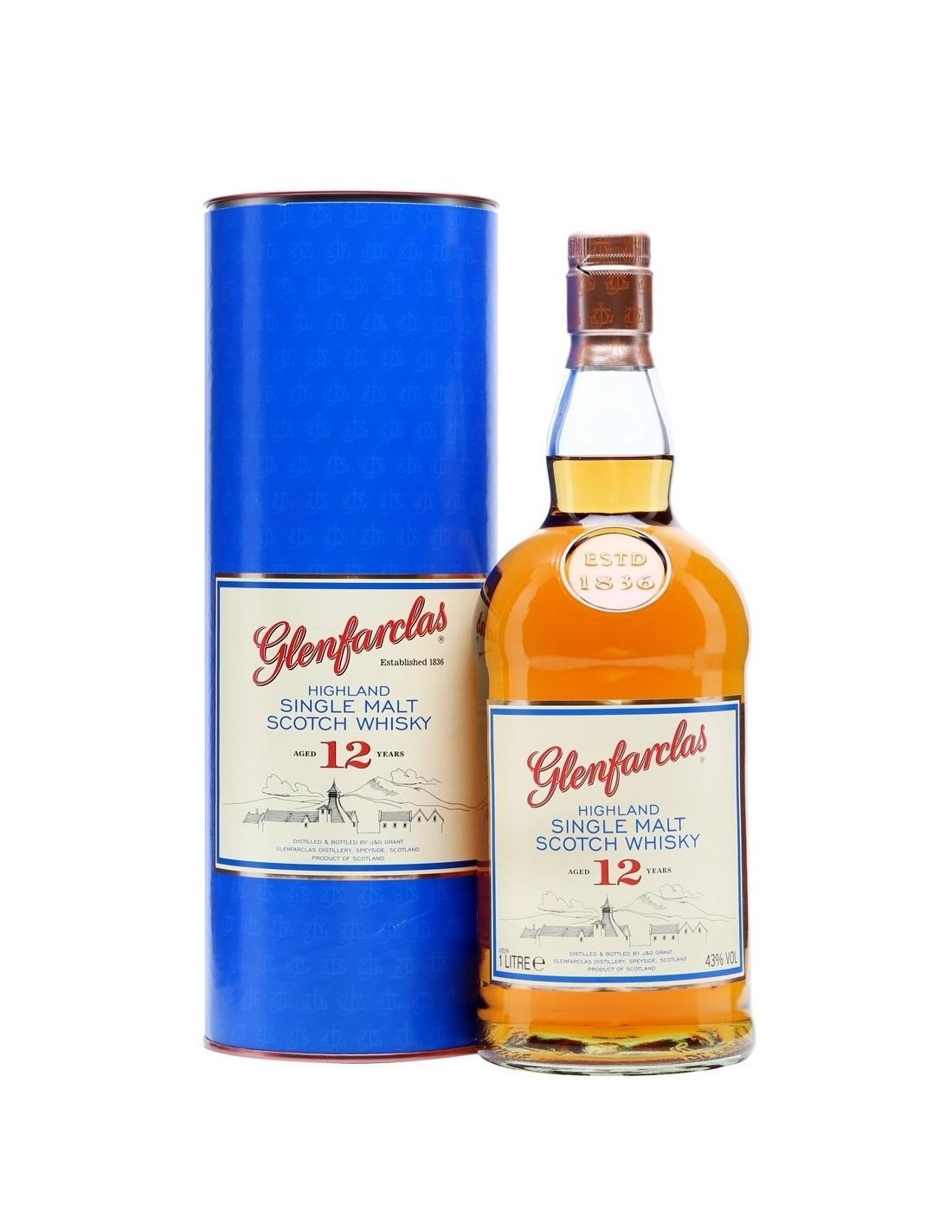 Whisky Glenfarclas, 12 ani, 43% alc., 0.7L, cutie, Scotia