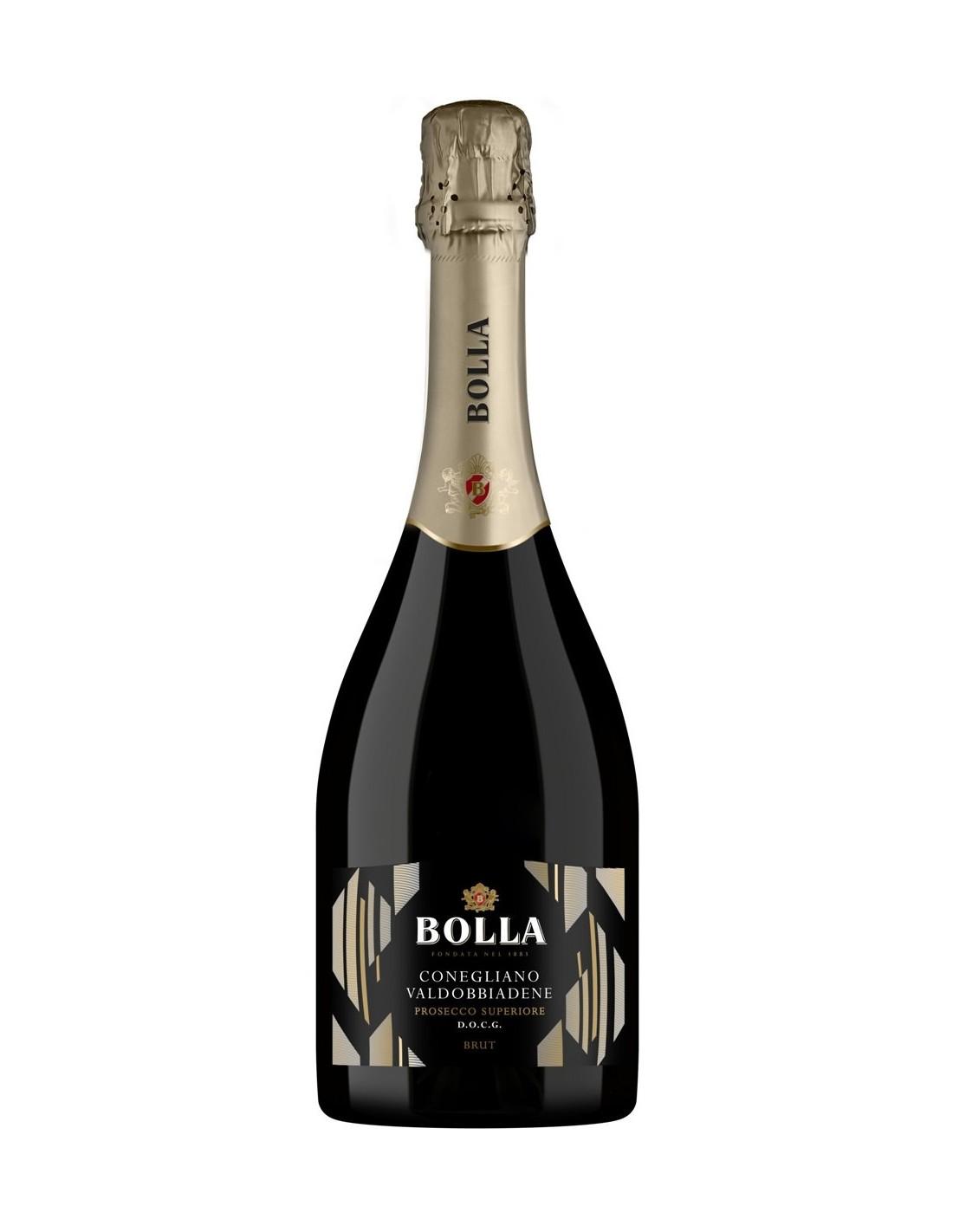 Vin spumos prosecco alb Glera, Bolla Conegliano-Valdobbiadene, 0.75L, 11% alc., Italia