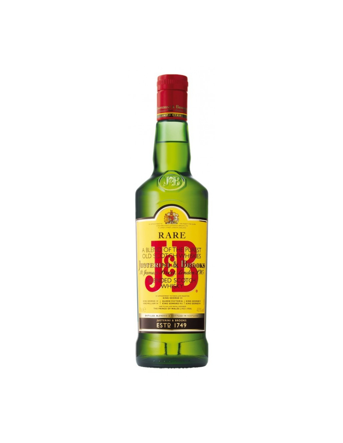 Whisky J&B Rare, 40% alc., 0.5L, Scotia