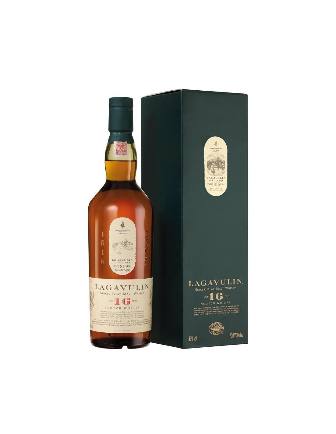 Whisky Lagavulin, 16 ani, 43% alc., 0.7L, Scotia