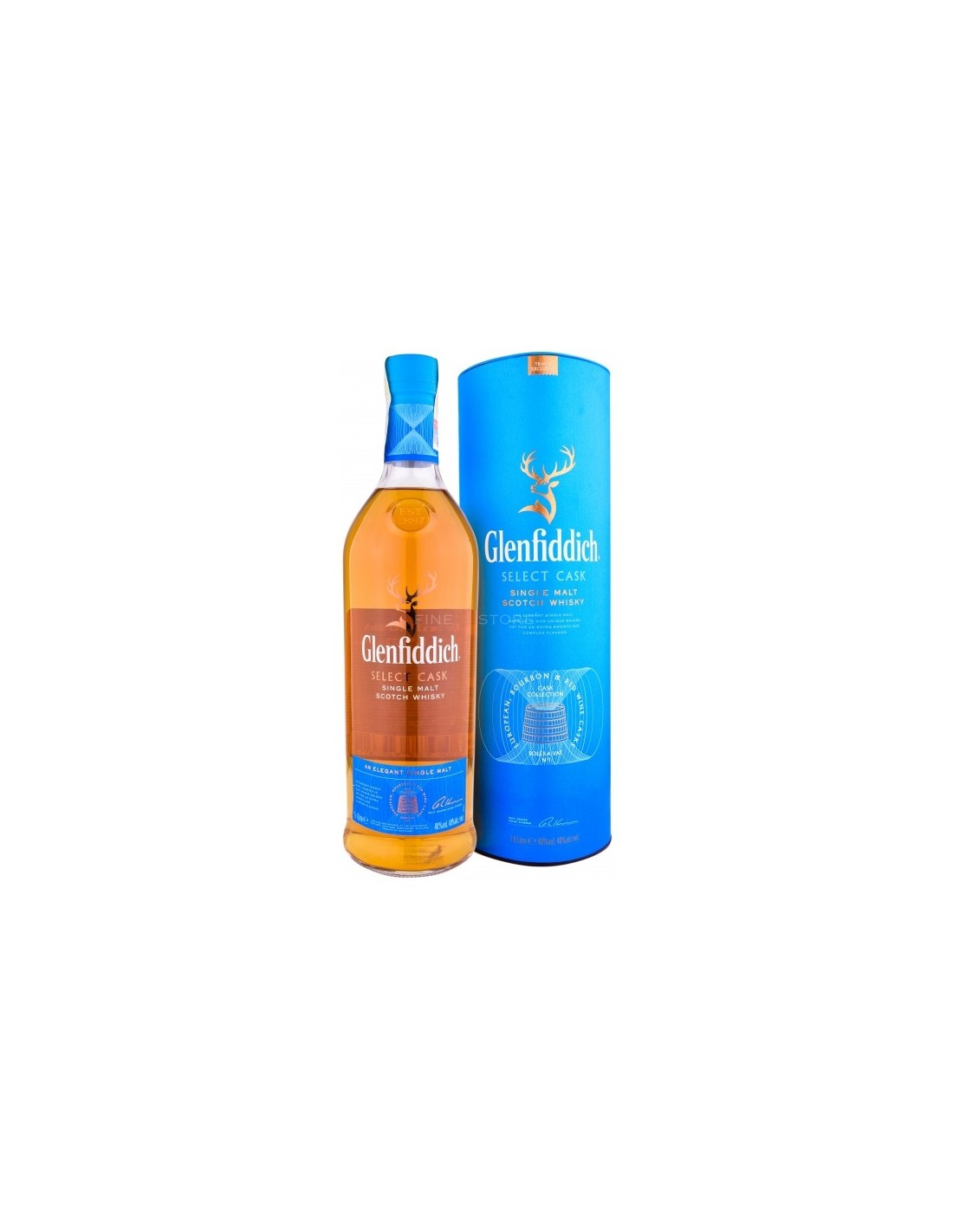Whisky Single Malt Glenfiddich Select Cask, 40% alc., 1L, Scotia