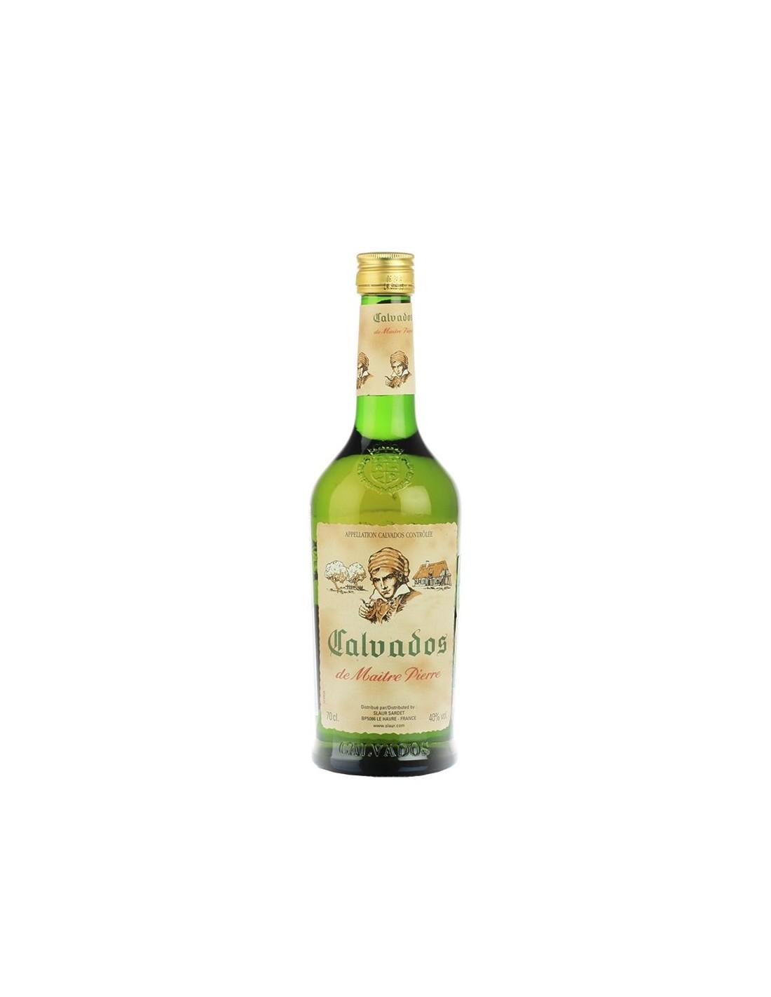 Brandy Calvados de Maitre Pierre 40% alc., 0.7L, Franta