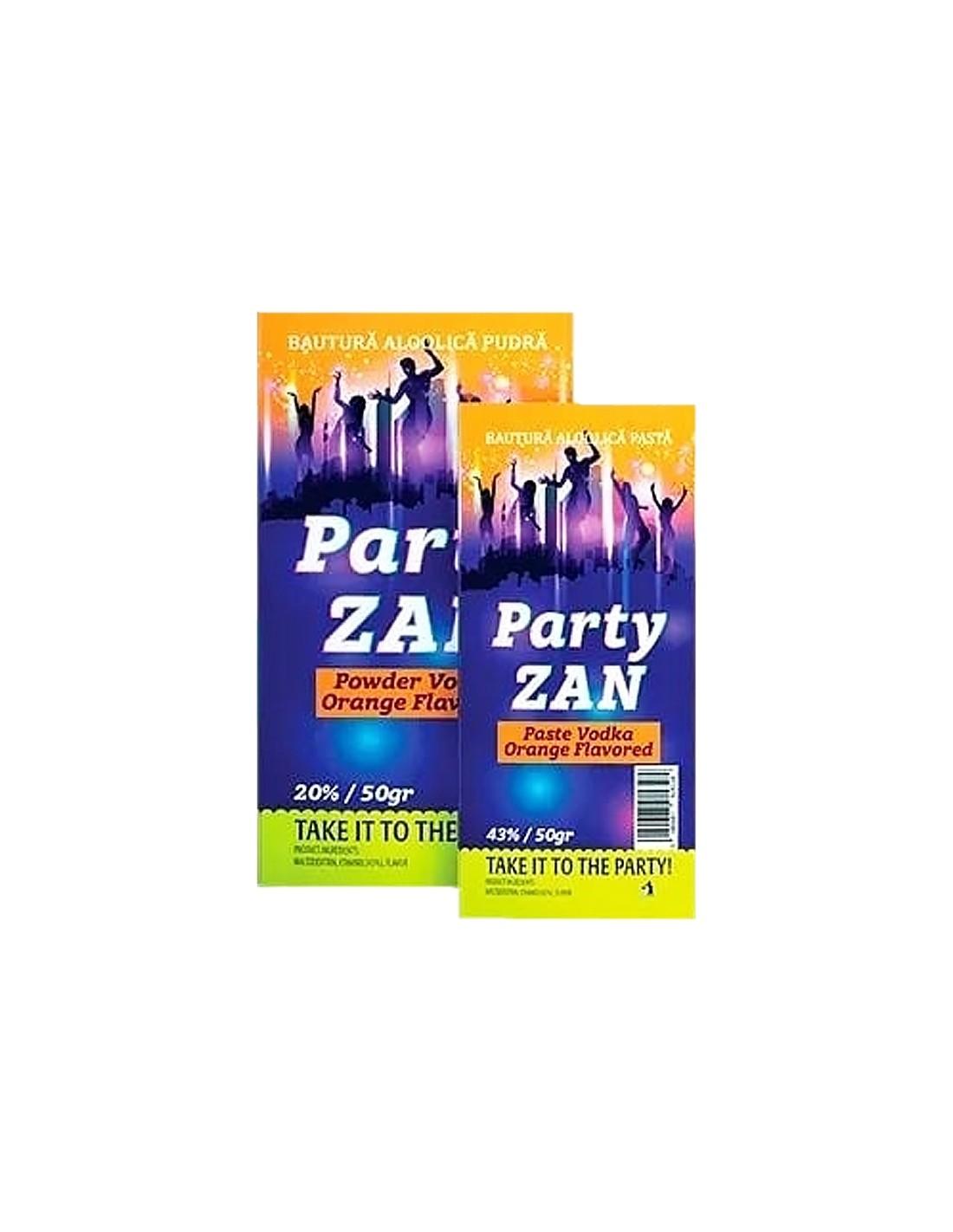 Vodca Party Zan Pasta cu aroma de portocale 43% alc.