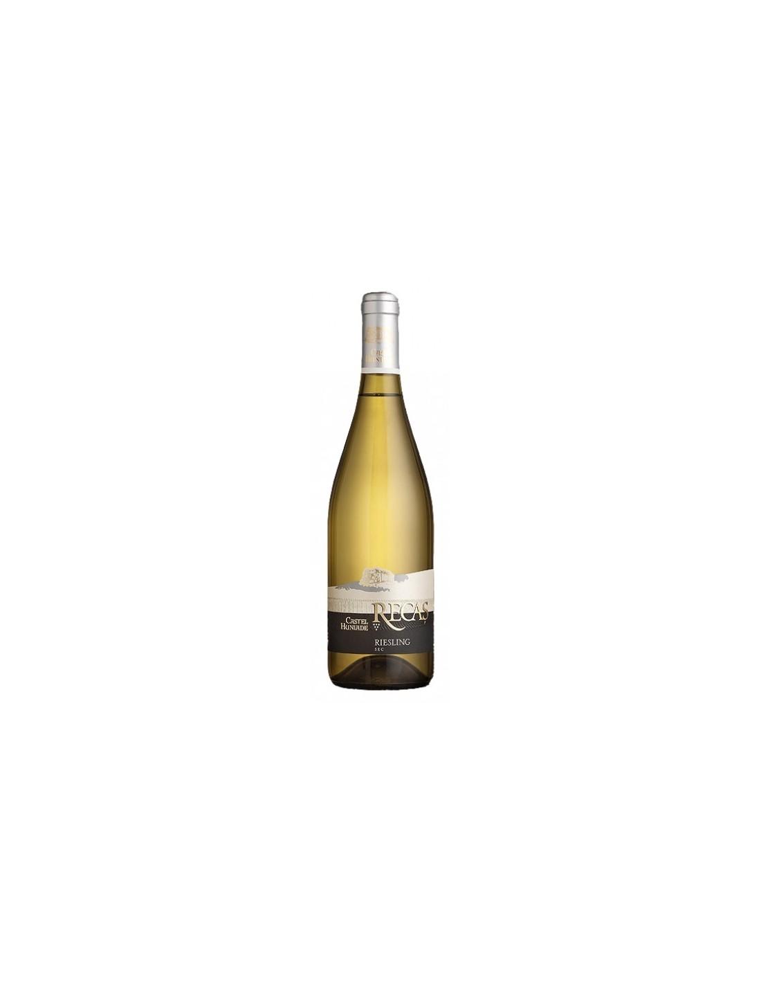 Vin alb sec, Riesling, Castel Huniade Recas, 0.75L, 12% alc., Romania