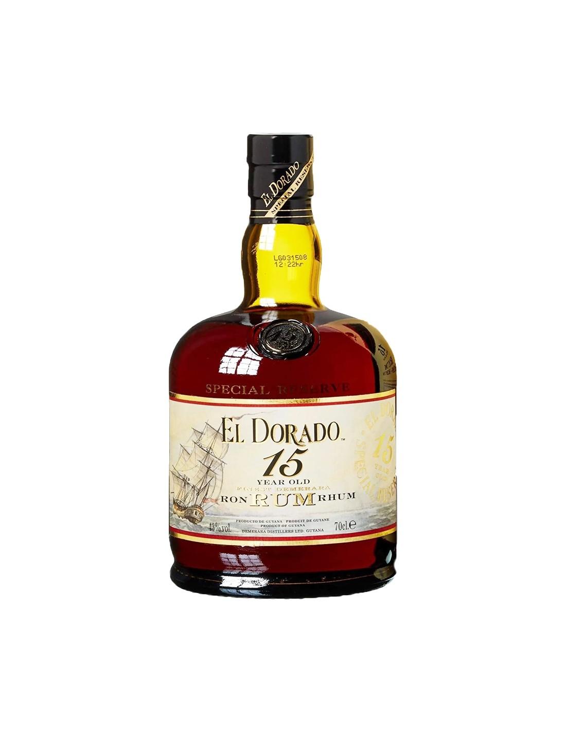 Rom El Dorado Special, 15 ani, 43% alc., 0.7L, Guyana