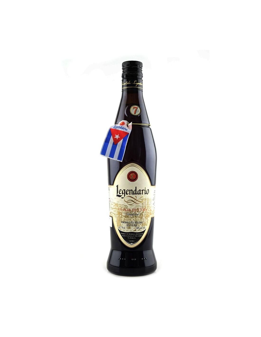 Rom negru Legendario Elixir De Cuba, 34% alc., 0.7L, Cuba