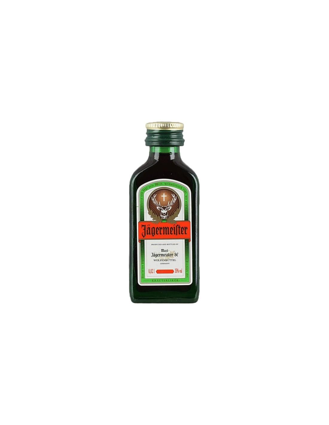 Lichior digestiv Jagermeister, 35% alc., 0.02L, Germania