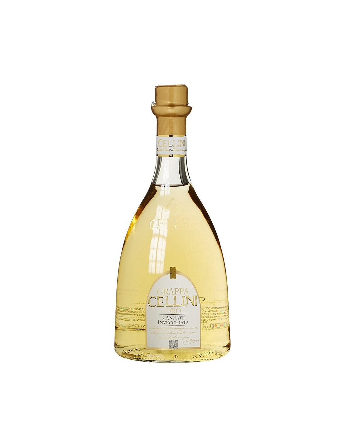 Bautura traditionala Grappa Cellini Oro, 38% alc., 0.7L, Italia