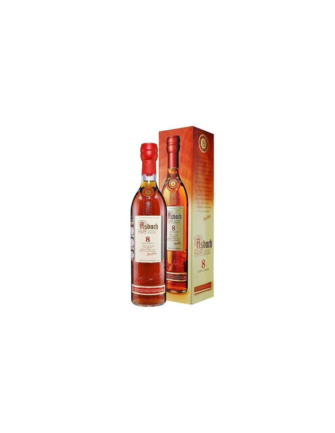 Coniac Brandy Asbach 40% alc., 0.7L, 8 ani, cutie