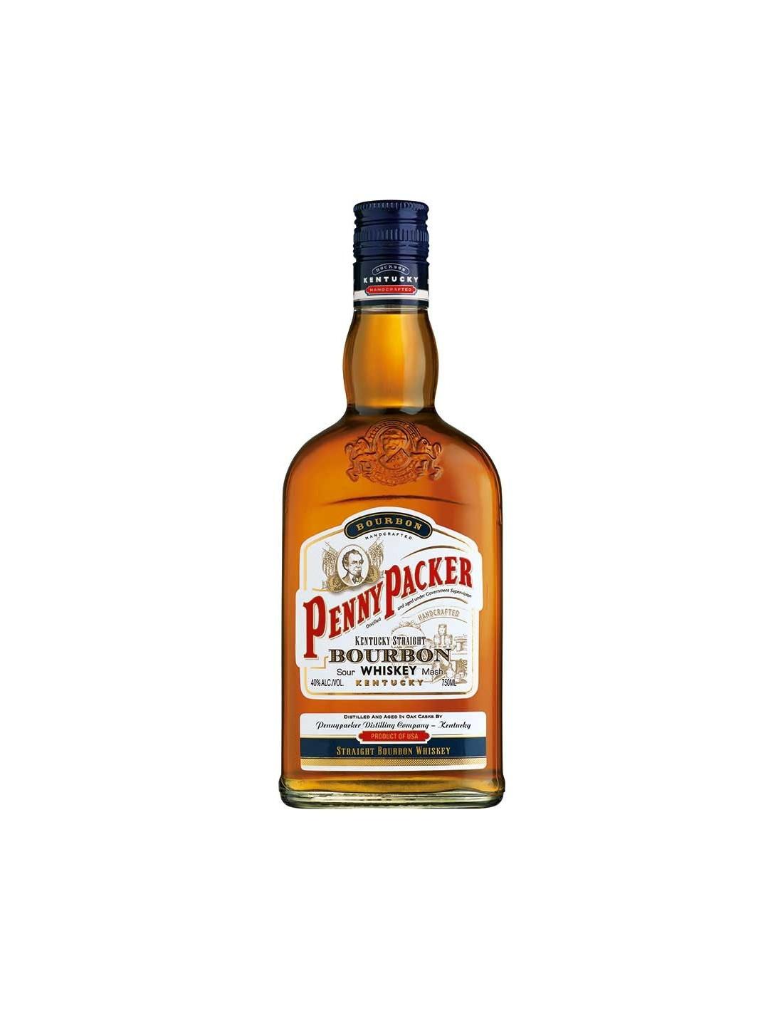 Whisky Bourbon PennyPacker, 40% alc., 0.7L, America