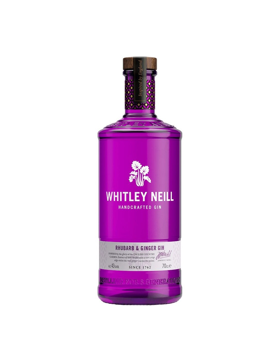 Gin Whitley Neill Rhubarb&Ginger 43% alc., 0.7L