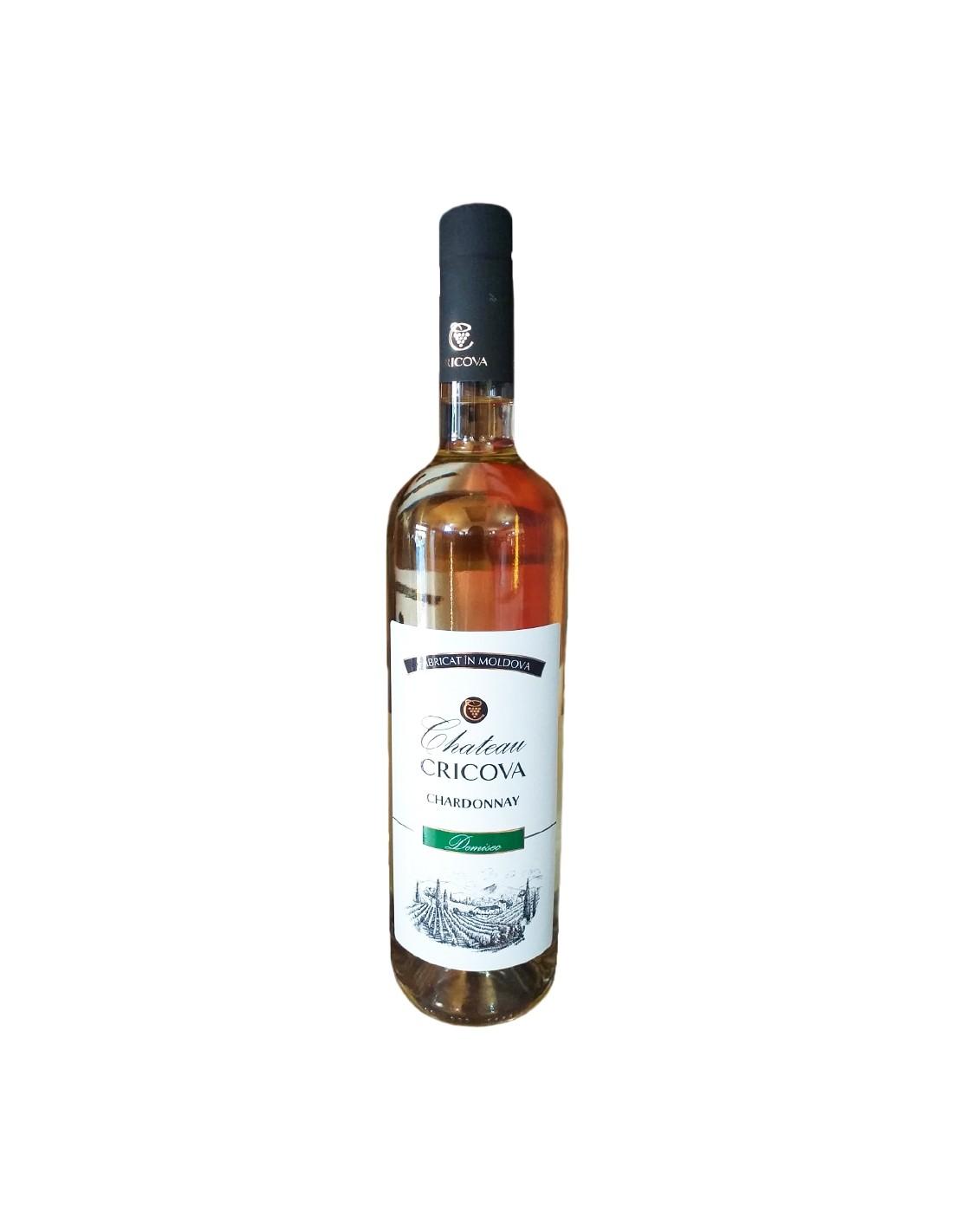 Vin alb demisec, Chardonnay, Château Cricova, 0.75L, 12% alc., Republica Moldova