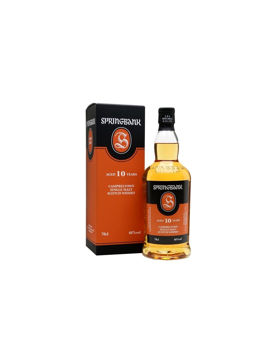 Whisky Springbank, 10 ani + GB 46% alc., 0.7L, Scotia