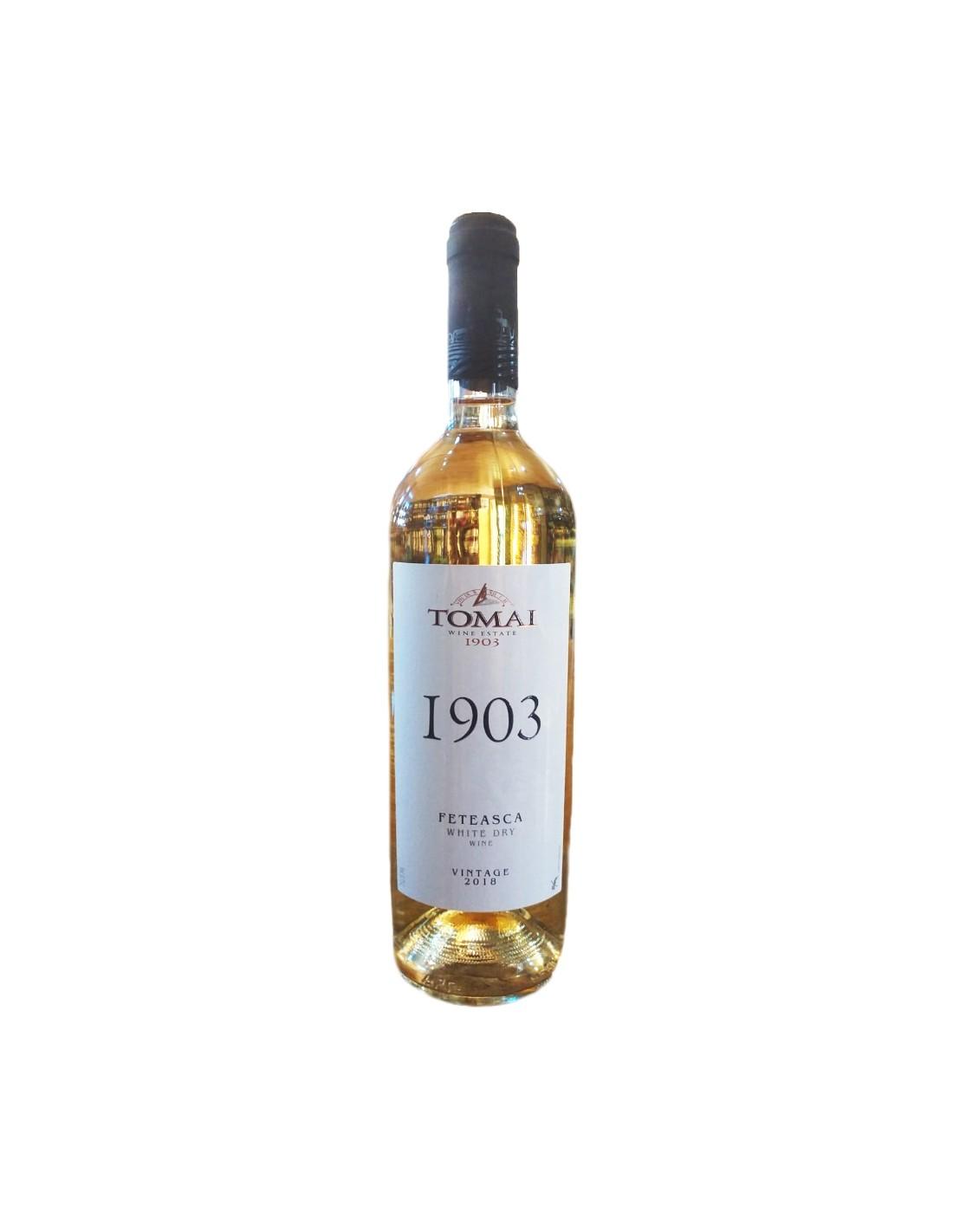 Vin alb sec, Feteasca Alba, Tomai, 0.75L, 12.5% alc., Republica Moldova