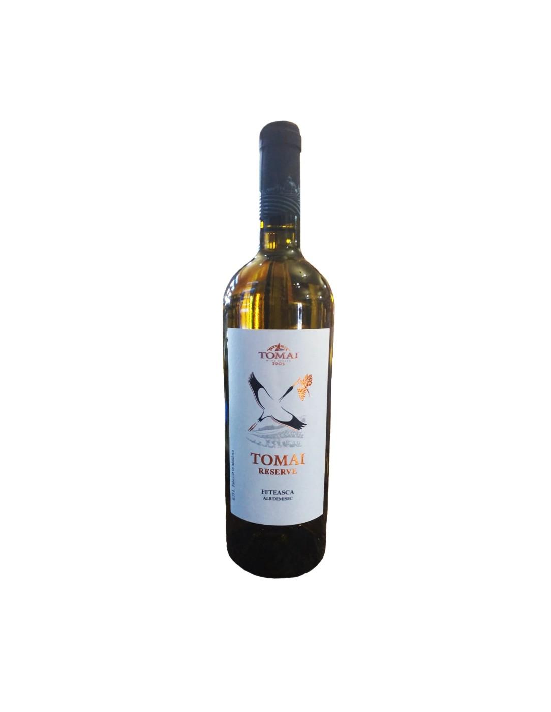 Vin alb demisec, Feteasca Alba, Tomai Reserve, 0.75L, Republica Moldova