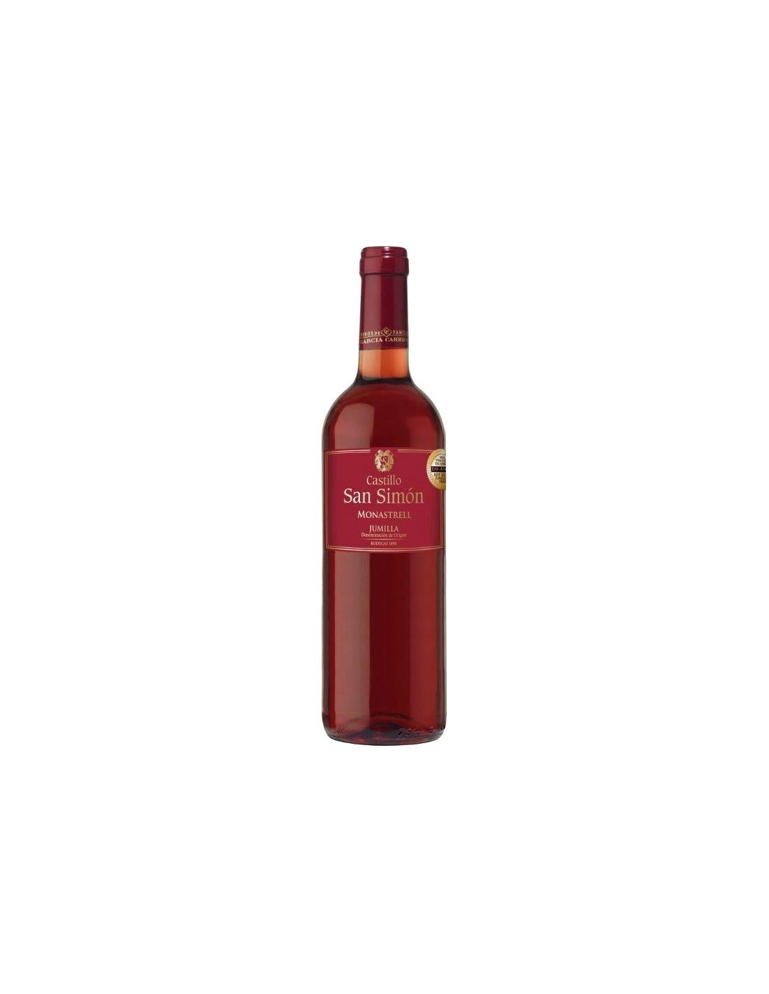 Vin roze, Monastrell, Castillo San Simon Jumilla, 0.75L, Spania
