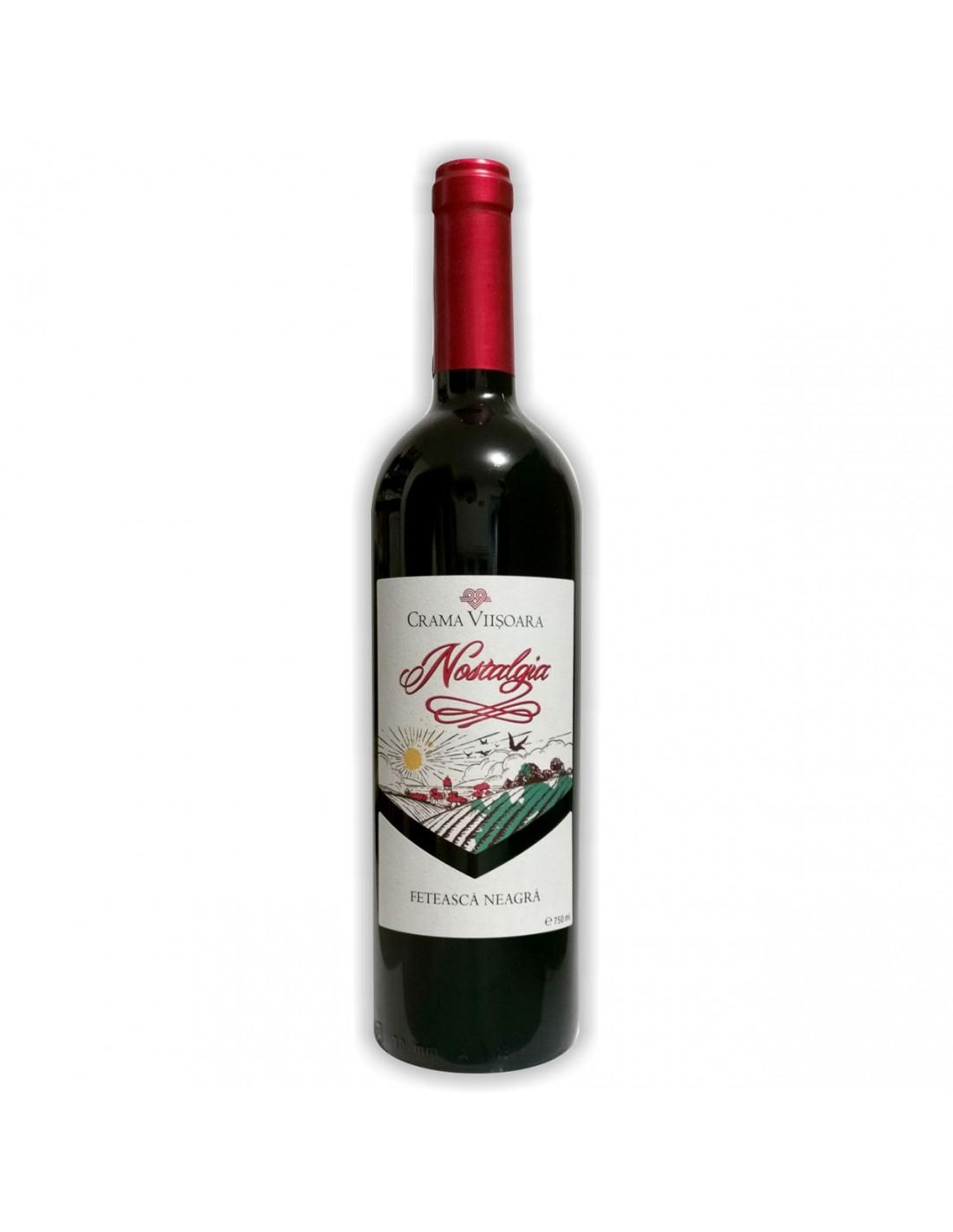 Vin rosu sec, Feteasca Neagra, Nostalgia, 0.75L, 14.5% alc., Romania