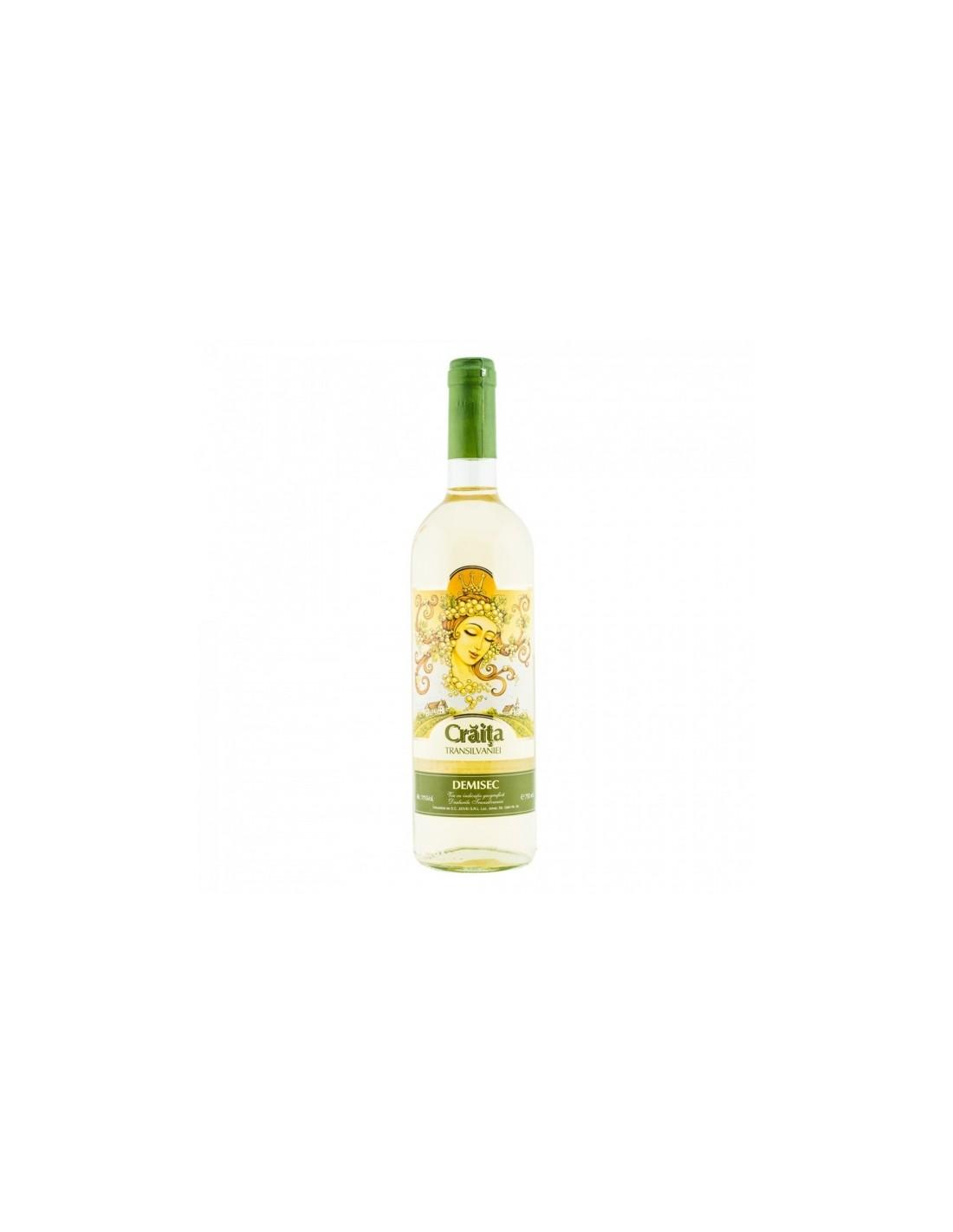Vin alb demisec, Craita Transilvaniei Jidvei, 0.75L, 11% alc., Romania