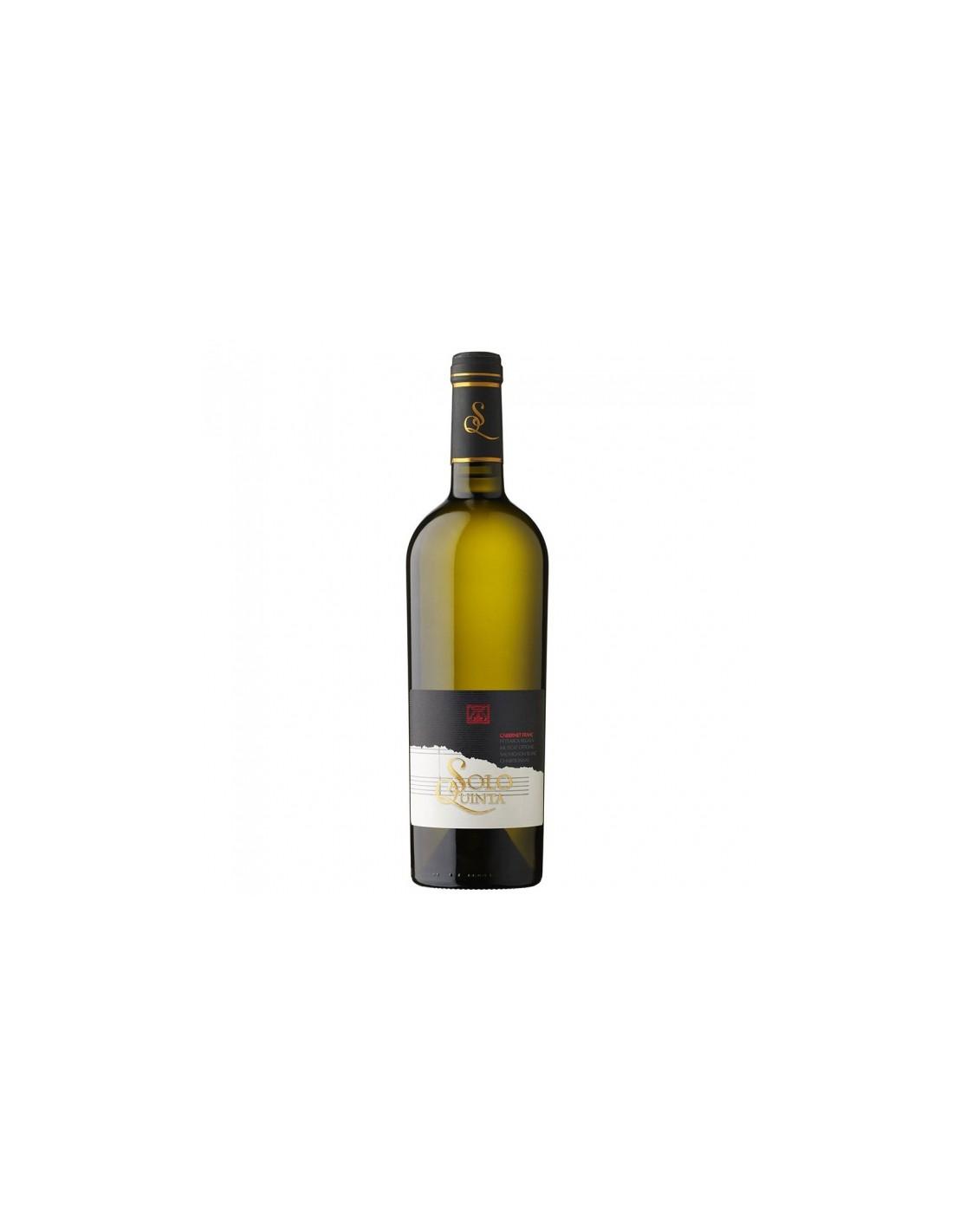 Vin alb sec, Cupaj, Solo Quinta Recas, 0.75L, 13.5% alc., Romania