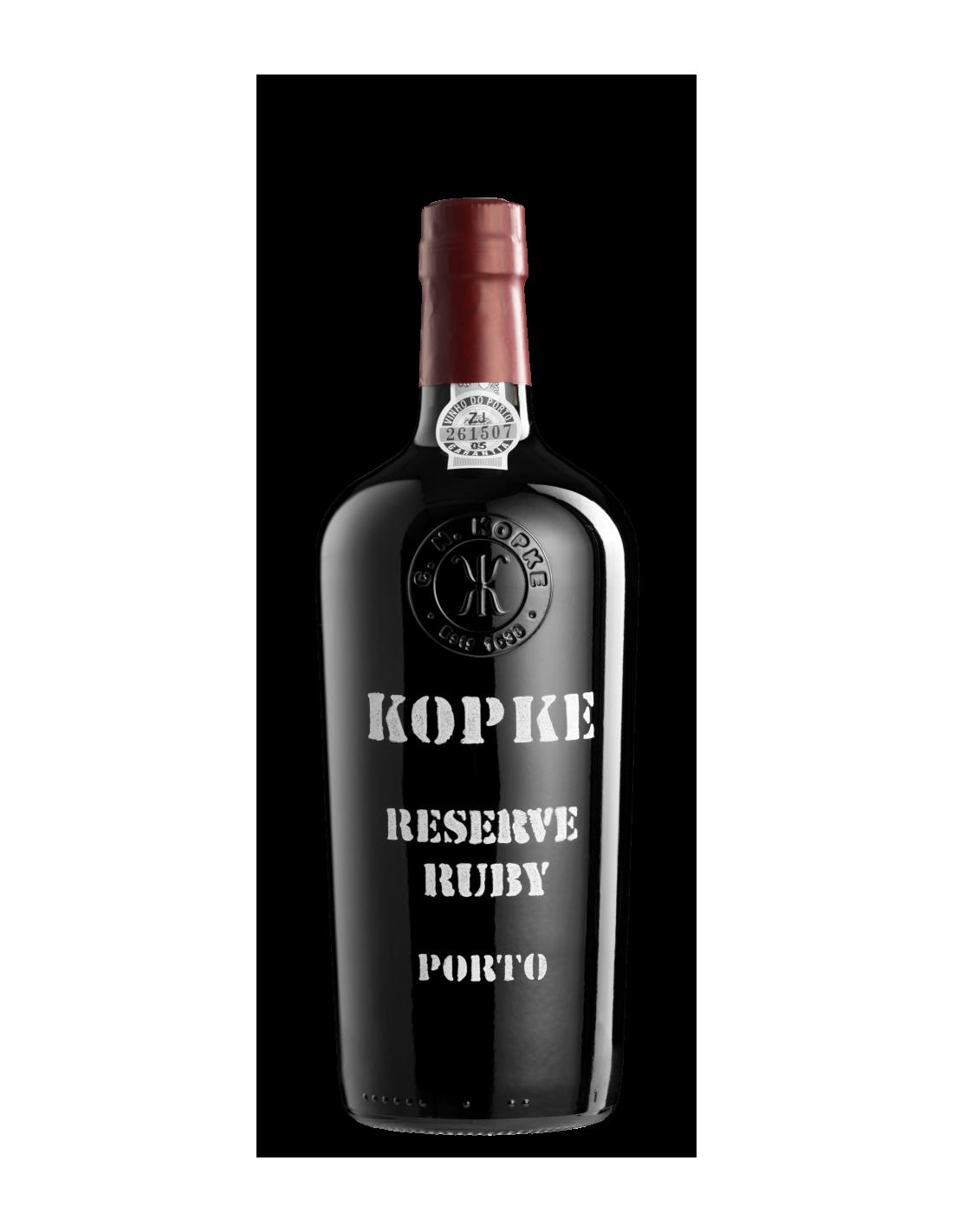 Vin porto rosu Kopke Reserve Ruby, Cupaj, 19.5% alc., 0.75L