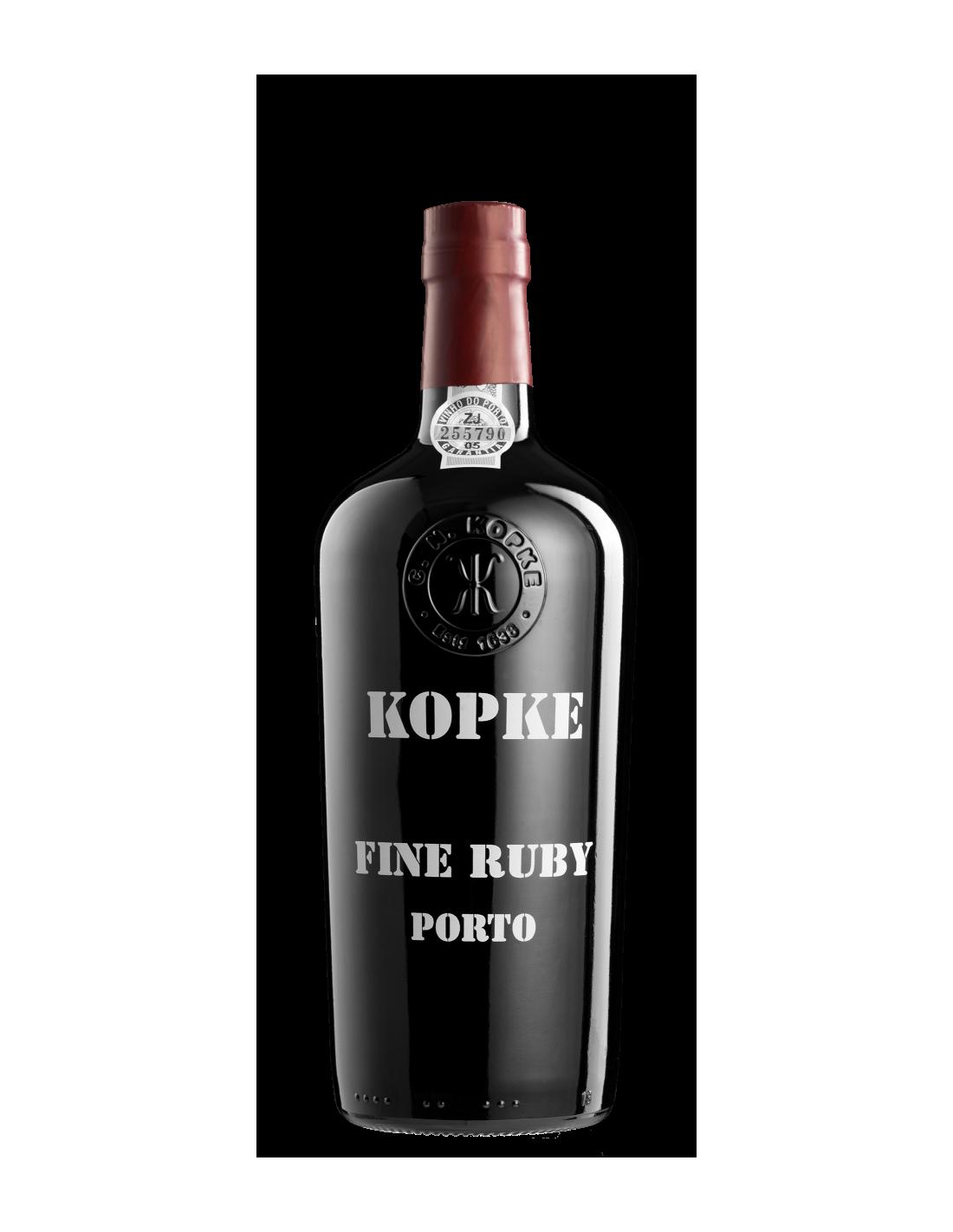 Vin porto rosu Kopke Fine Ruby, Cupaj, 19.5% alc., 0.75L