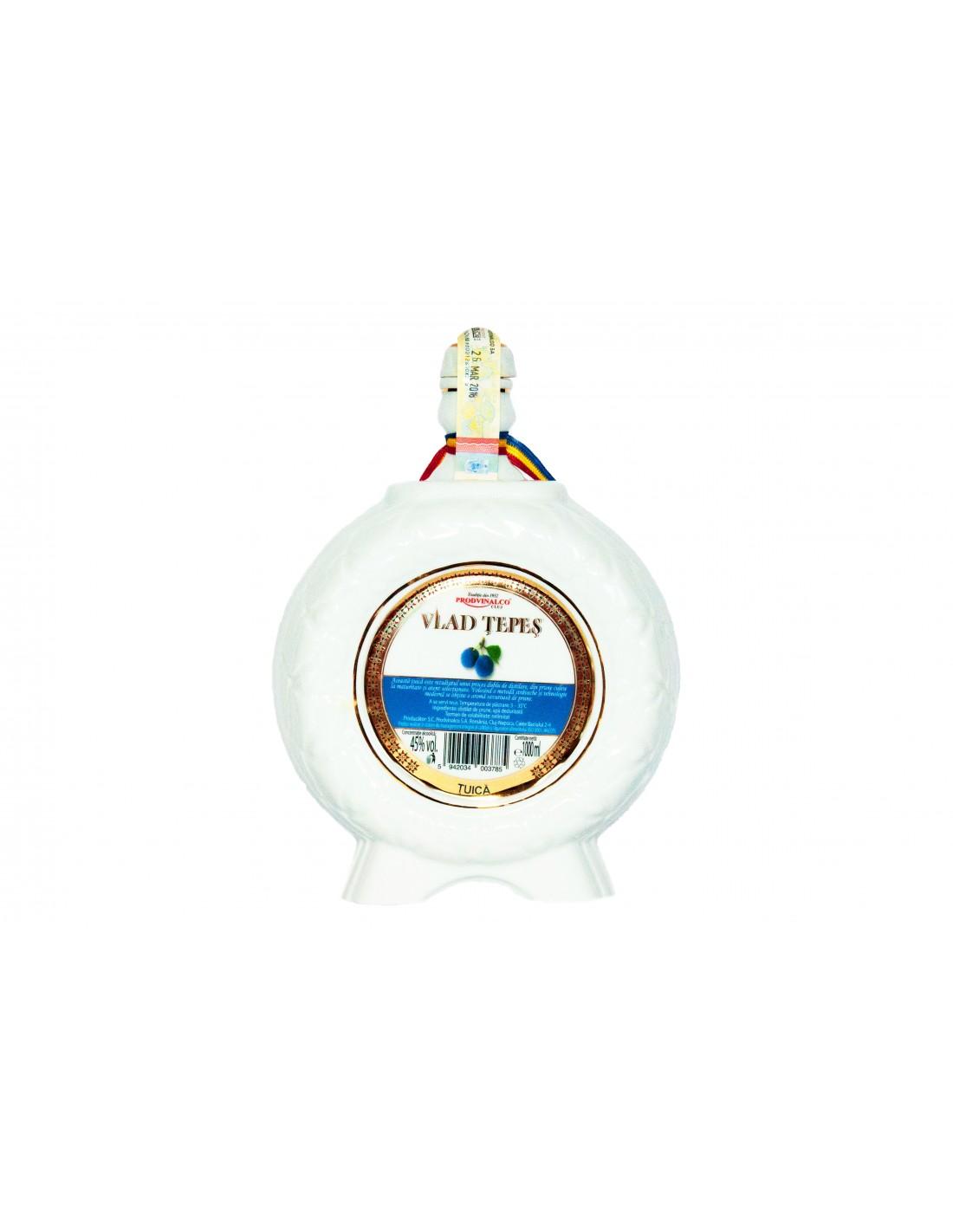 Tuica de prune Vlad Tepes, 45% alc., 1L, Romania