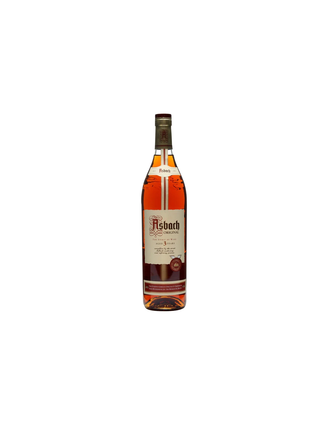 Brandy Asbach Original 3 ani, 38% alc., 0.7L, Germania