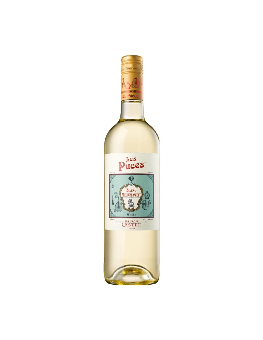 Vin alb, Les Puces, 0.75L, 12% alc., Franta