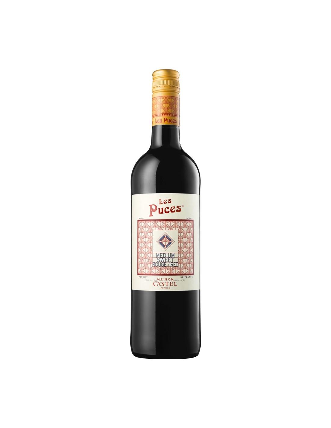 Vin rosu, Grenache, Les Puces, 0.75L, Franta