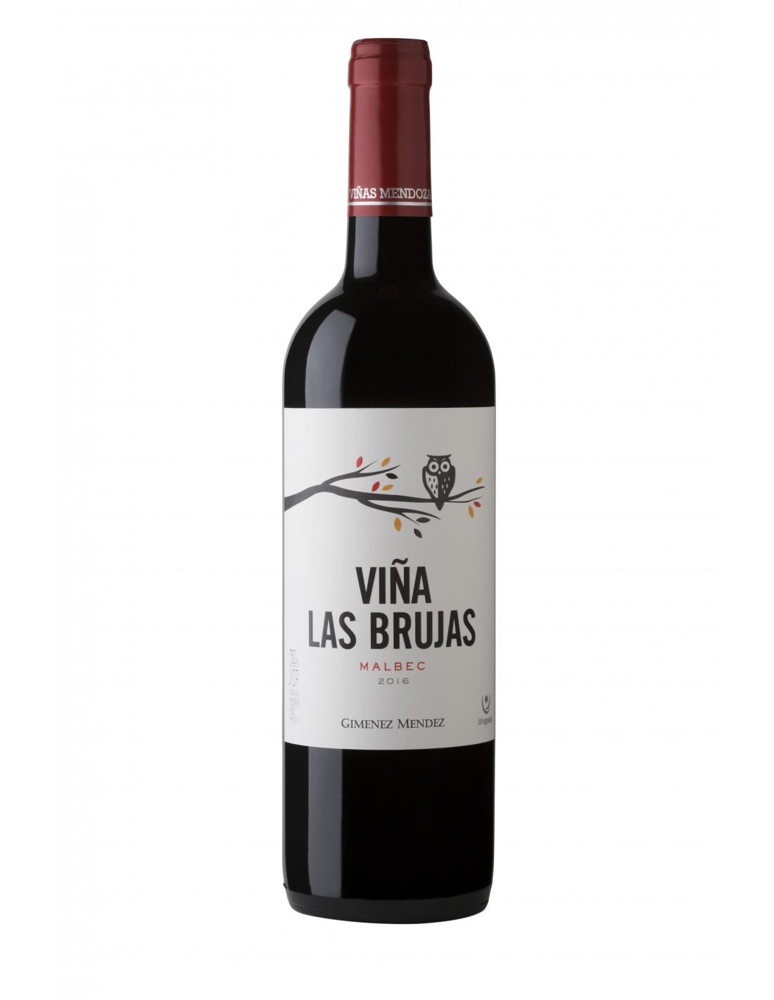Vin rosu, Malbec, Viña Las Brujas Canelones, 0.75L, Uruguay
