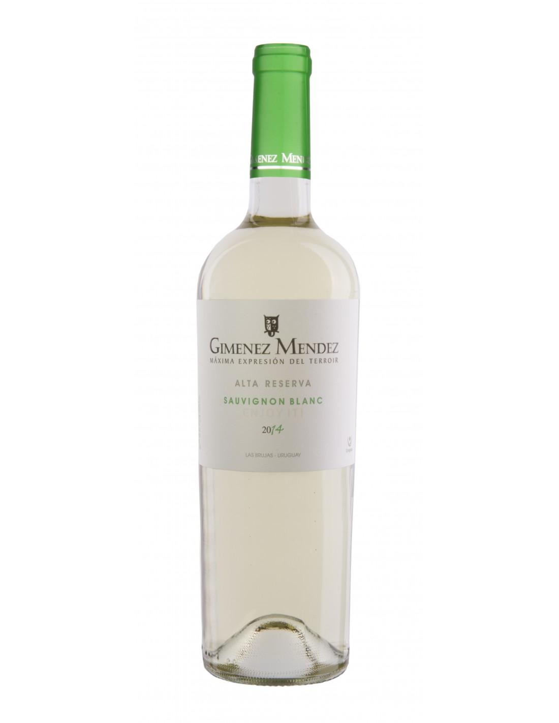 Vin alb, Sauvignon Blanc, Gimenez Mendez Alta Reserva, 0.75L, 12% alc., Uruguay