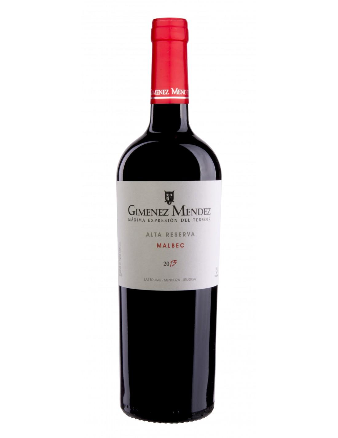 Vin rosu, Malbec, Gimenez Mendez Alta Reserva, 0.75L, 14% alc., Uruguay