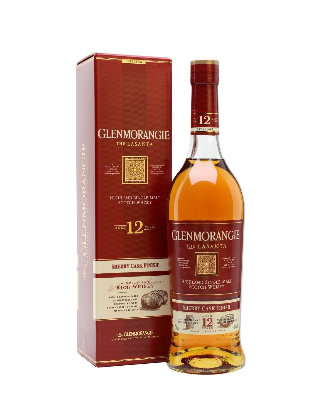 Whisky Single Malt Glenmorangie Lasanta, 12 ani , 43% alc., 0.7L, Scotia