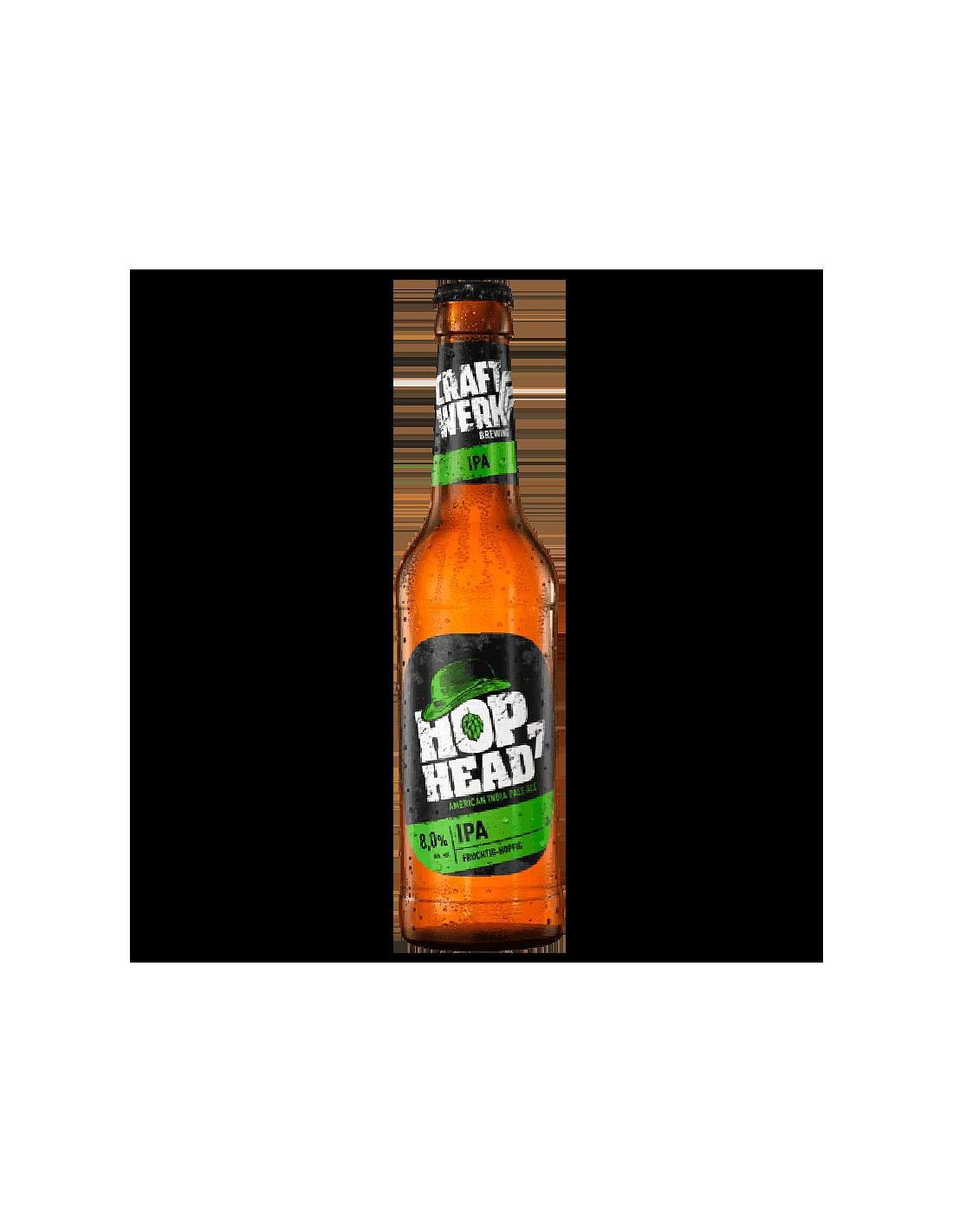 Bere Craft Werk Hop Head IPA sticla, 8% alc., 0.33L, Belgia
