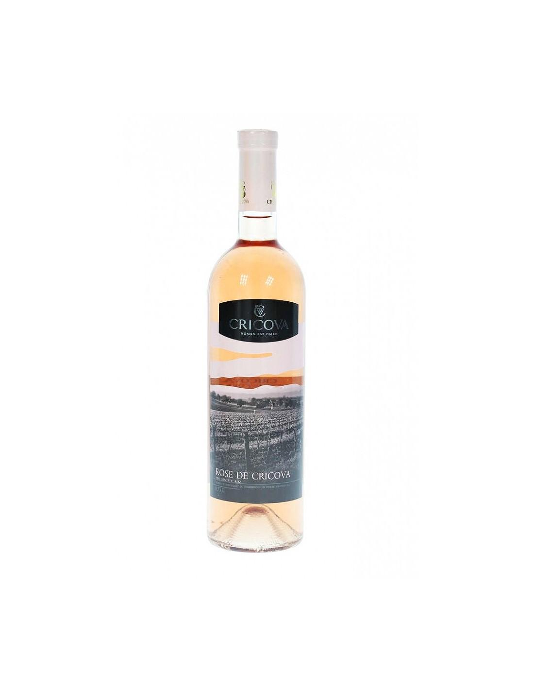 Vin rose demisec, Chateau Cricova, 12% alc., 0.75L, Republica Moldova